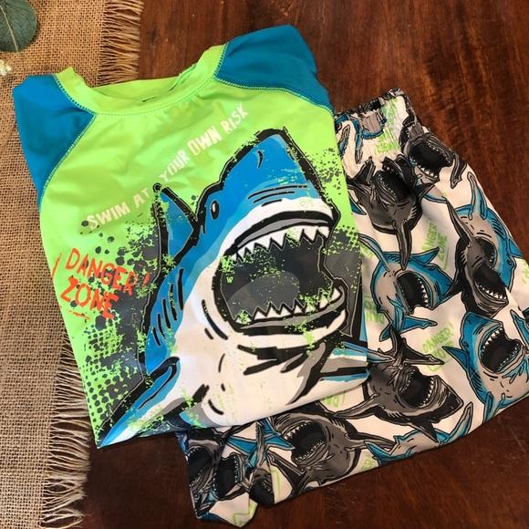NEW Boys OP Bathing Swim Suit Sz 4 5 6 7 8 Sharks